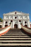 White building facade of the San Francisco Convent, Granada, Nicaragua