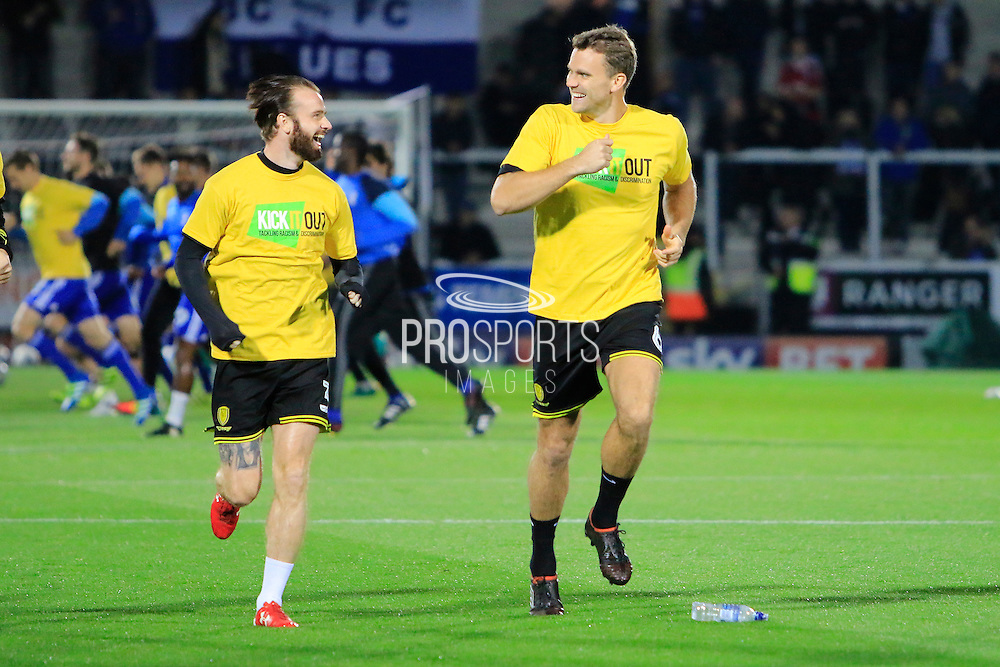 Burton's John Brayford (3) and Ben Turner (6) during the EFL Sky Bet Championship match between Burton Albion and Birmingham City at the Pirelli Stadium, Burton upon Trent, England on 21 October 2016. Photo by Richard Holmes.