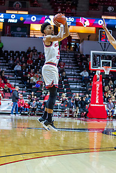 NORMAL, IL - January 19: Zach Copeland swishes a 3 pointer for the first score of the game during a college basketball game between the ISU Redbirds and the Loyola University Chicago Ramblers on January 19 2020 at Redbird Arena in Normal, IL. (Photo by Alan Look)