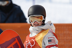 February 12, 2018 - Pyeongchang, KOREA - Kelly Clark (USA) after competing in the ladies halfpipe qualification during the Pyeongchang 2018 Olympic Winter Games at Phoenix Snow Park. (Credit Image: © David McIntyre via ZUMA Wire)