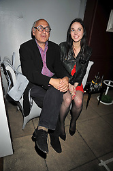 MICHAEL NYMAN and FLORENCE MACKENZIE at a reception to celebrate the launch of Liberatum's Russian Anglo Arts Festival (Anglomockba)  held at Sketch, London on 27th April 2009.
