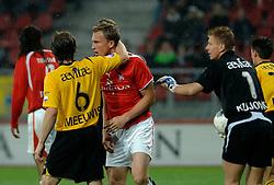 09-05-2007 VOETBAL: PLAY OFF: UTRECHT - RODA: UTRECHT<br /> In de play-off-confrontatie tussen FC Utrecht en Roda JC om een plek in de UEFA Cup is nog niets beslist. De eerste wedstrijd tussen beide in Utrecht eindigde in 0-0 / Tim Cornelisse en Marcel Meeuwis<br /> ©2007-WWW.FOTOHOOGENDOORN.NL