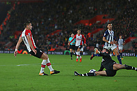 Football - 2017 / 2018 Premier League - Southampton vs. West Bromwich Albion<br /> <br /> Ben Forster of West Bromwich Albion  makes a fine save from Southampton's Dusan Tadic at St Mary's Stadium Southampton<br /> <br /> COLORSPORT/SHAUN BOGGUST