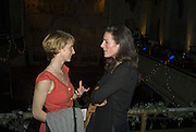 DAISY GOUGH AND DORATHEA AIREY.  Discover Wilton's Music Hall, Fundraising event. Graces alley, Ensign St. London. 5 December 2007. -DO NOT ARCHIVE-© Copyright Photograph by Dafydd Jones. 248 Clapham Rd. London SW9 0PZ. Tel 0207 820 0771. www.dafjones.com.
