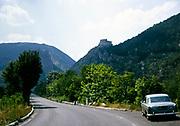 Castello di Entreveaux, hilltop castle at Entrevaux, Alpes-de-Haute-Provence , France 1974