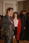 HUGH DANCY AND ANNIE MORRIS, Opening of Photo-London, Burlington Gdns. London. 17 May 2006. ONE TIME USE ONLY - DO NOT ARCHIVE  © Copyright Photograph by Dafydd Jones 66 Stockwell Park Rd. London SW9 0DA Tel 020 7733 0108 www.dafjones.com