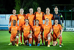 Team of Nederland posing for picture before football match between Slovenia and Nederland in qualifying Round of Woman's qualifying for EURO 2021, on October 5, 2019 in Mestni stadion Fazanerija, Murska Sobota, Slovenia. Photo by Blaž Weindorfer / Sportida