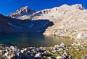 Dade Lake under Bear Creek Spire, John Muir Wilderness, Sierra Nevada Mountains, California