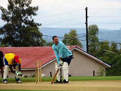 """BEST QUALITY AVAILABLE Former England captain Michael Vaughan takes part in a celebrity T20 match following the official opening of a new cricket stadium in Kigali, Rwanda, which has been dubbed the """"Lord's of East Africa""""."""