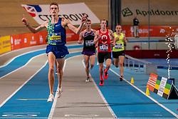 Mike Foppen in action on 3000 meter during the Dutch Indoor Athletics Championship on February 23, 2020 in Omnisport De Voorwaarts, Apeldoorn