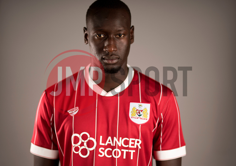 Famara Dieddiou poses at Ashton Gate Stadium after joining Bristol City from Angers SCO - Mandatory by-line: Joe Meredith/JMP - 27/06/2017 - FOOTBALL - Ashton Gate Stadium - Bristol, England - Bristol City New Signing