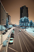Infrared (IR) image - Downtown Tucson, Arizona.  I like the leading lines in this image.
