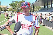 Wayne Bennett fronts the media after training. England Rugby League Team training at Redfern Oval, Sydney, Australia. 30 October 2017. Copyright Image: David Neilson / www.photosport.nz