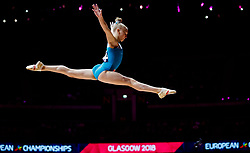 Georgia's Anna Subbotina on the beam during day one of the 2018 European Championships at The SSE Hydro, Glasgow. PRESS ASSOCIATION Photo. Picture date: Thursday August 2, 2018. See PA story SPORT European. Photo credit should read: John Walton/PA Wire. RESTRICTIONS: Editorial use only, no commercial use without prior permission