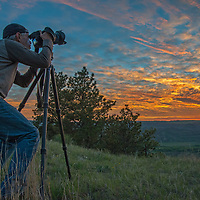 Gib Myers photographs a sunset on the PN Ranch, part of both American Prairie Reserve and the Upper Missouri River Breaks National Monument.