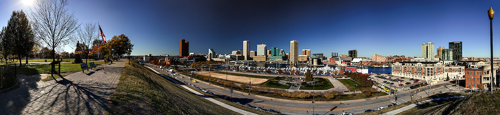 baltimore panorama from federal hill,