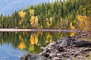 Fall colors on Lake McDonald, Glacier National Park