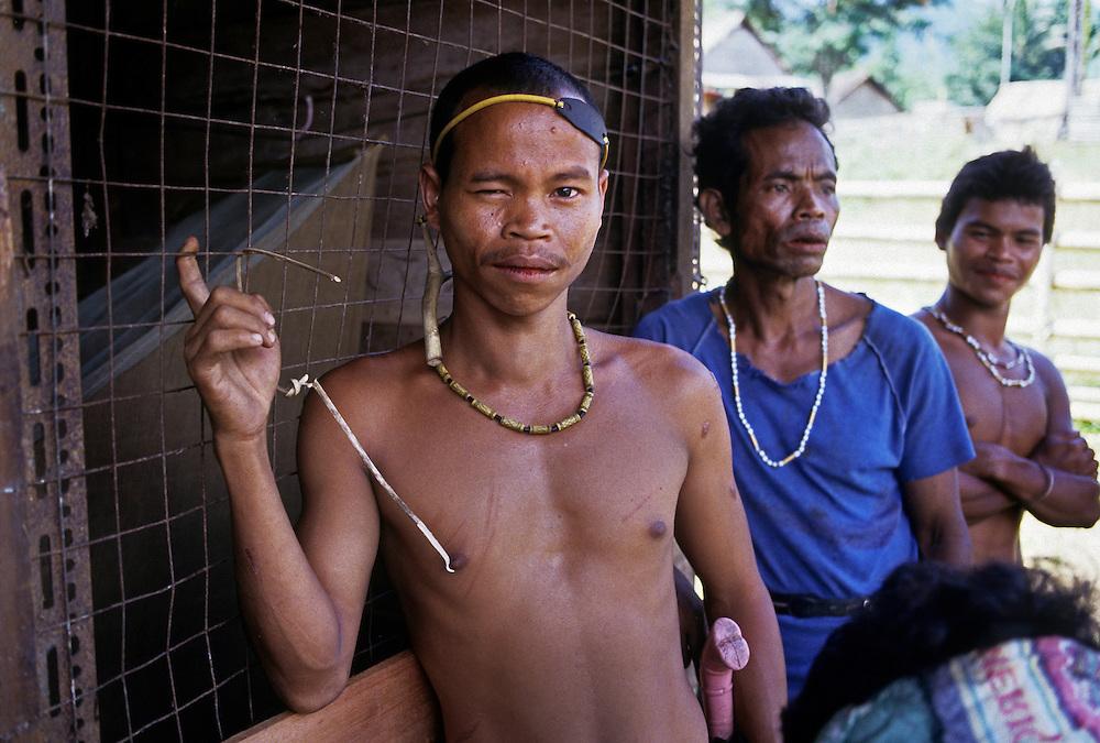 Murut Hill tribe. Sabah, Malaysia. Borneo<br /> Client Raleigh International