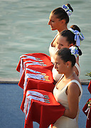 Plovdiv BULGARIA.    Medal and Flower Presentation Party. 2012 FISA Junior and Non Olympic . Rowing Championships, Plovdiv Rowing Course.     18:55:37  Saturday  18/08/2012 [Mandatory Credit Peter Spurrier: Intersport Images]...