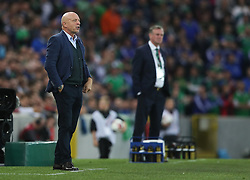 Czech Republic manager Karel Jarolim during the 2018 FIFA World Cup Qualifying, Group C match at Windsor Park, Belfast