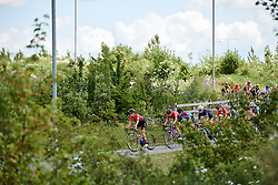 Elena Cecchini (ITA) and Lisa Klein (GER) set the pace at Stage 2 of 2019 OVO Women's Tour, a 62.5 km road race starting and finishing in the Kent Cyclopark in Gravesend, United Kingdom on June 11, 2019. Photo by Sean Robinson/velofocus.com