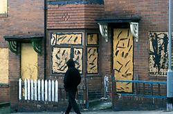 Rundown Benwell council housing estate Newcastle, Nicknamed the 'estate from hell' by locals UK