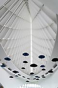 Interior view of the Milwaukee Art Museum, Milwaukee, Wisconsin, USA.
