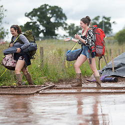 T in the Park, leaving the campsite on Monday