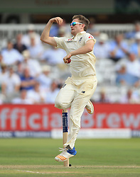 England's Liam Dawson during day two of the First Investec Test match at Lord's, London. PRESS ASSOCIATION Photo. Picture date: Friday July 7, 2017. See PA story CRICKET England. Photo credit should read: Nigel French/PA Wire. RESTRICTIONS: Editorial use only. No commercial use without prior written consent of the ECB. Still image use only. No moving images to emulate broadcast. No removing or obscuring of sponsor logos.