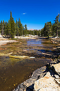 The Lyell Fork of the Tuolumne River, Tuolumne Meadows, Yosemite National Park, California USA