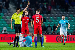 Josip Ilicic of Slovenia and Jordan Henderson of England and Gary Cahill of England during football match between National teams of Slovenia and England in Round #3 of FIFA World Cup Russia 2018 qualifications in Group F, on October 11, 2016 in SRC Stozice, Ljubljana, Slovenia. Photo by Grega Valancic / Sportida