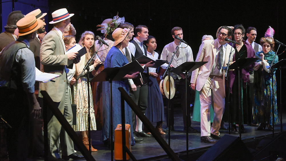January 22, 2016<br /> ©Mara Lavitt Photo<br /> The Music Man in Concert dress rehearsal/run-through at The University Theatre at Yale University, New Haven.