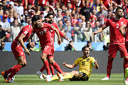 June 23, 2018 - Moscou, Russie - MOSCOW, RUSSIA - JUNE 23 :  Eden Hazard midfielder of Belgium pictured during the FIFA 2018 World Cup Russia group G phase match between Belgium and Tunisia at the Spartak Stadium on June 23, 2018 in Moscow, Russia, 23/06/2018 (Credit Image: © Panoramic via ZUMA Press)