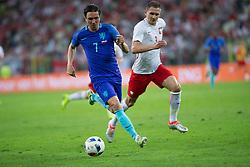 01-06-2016 POL: Polen - Nederland, Gdansk<br /> Oefenwedstrijd dat met 2-1 wordt gewonnen / Steven Berghuis (Holandia), Artur Jedrzejczyk (Polska)<br /> <br /> ***NETHERLANDS ONLY***