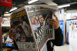 © Licensed to London News Pictures. 08/07/2021. London, UK. Front and back pages of Daily Mail, newspaper covering England's semi-final victory against Denmark in EURO 2020. Photo credit: Dinendra Haria/LNP