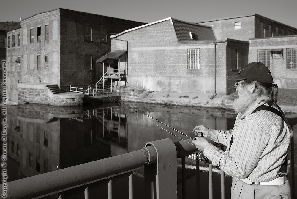 Fishing at Byron Weston Mill, Dalton
