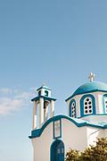 Architectural detail of Analipsi Church on Gialiskari beach, Ikaria, Greece