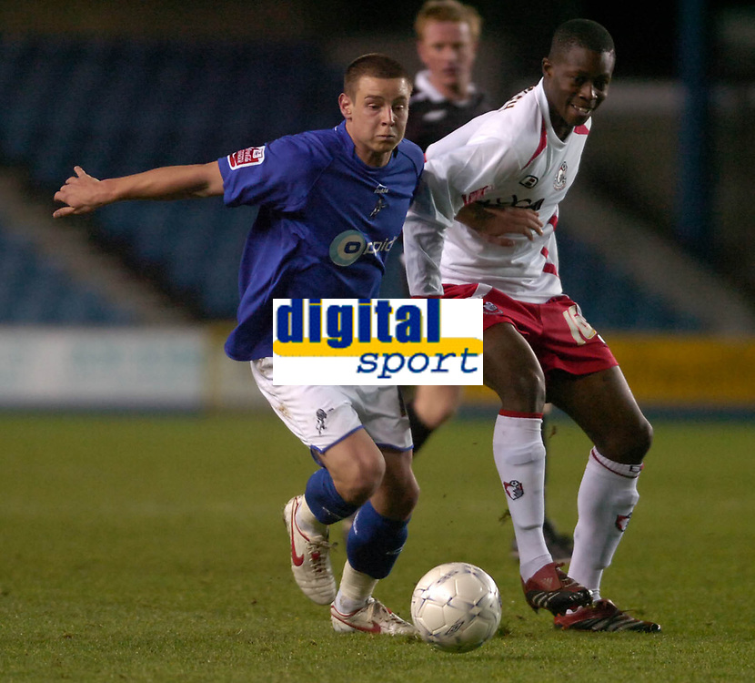 Photo: Matt Bright/Sportsbeat Images.<br /> Millwall v AFC Bournemouth. The FA Cup. 01/12/2007.<br /> Will Hoskins of Millwall & Marvin Bartley of Bournemouth