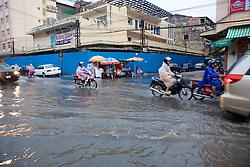 Heavy Rain & Flooding In Downtown Phnom Penh