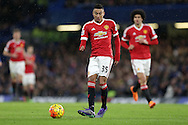Jesse Lingard of Manchester United in action. Barclays Premier league match, Chelsea v Manchester Utd at Stamford Bridge in London on Sunday 7th February 2016.<br /> pic by John Patrick Fletcher, Andrew Orchard sports photography.
