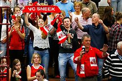 20150425 NED: Eredivisie VC Sneek - Eurosped, Sneek<br />Supporters, VC Sneek<br />©2015-FotoHoogendoorn.nl / Pim Waslander