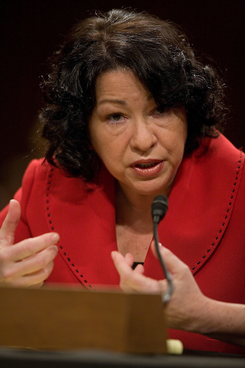 Supreme Court Nominee Sonya Sotomayor testifies  to the Senate Judiciary Committee at her Supreme Court confirmation hearing on Tuesday, July 14, 2009 in Washington.