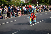 London, UK. Wednesday 1st August 2012. The Men's Individual Time Trial cycling event passes through Twickenham on route to find the fastest male cyclist. Rider Alexandr Vinokurov of Kazakhstan.