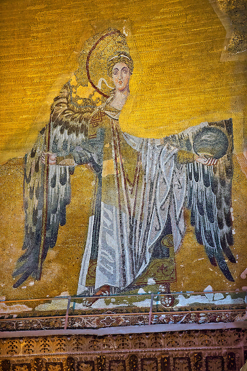 Byzantine Mosaic of an Angel, Hagia, Sophia, Istanbul, Turkey .<br /> <br /> If you prefer to buy from our ALAMY PHOTO LIBRARY  Collection visit : https://www.alamy.com/portfolio/paul-williams-funkystock/istanbul.html<br /> <br /> Visit our TURKEY PHOTO COLLECTIONS for more photos to download or buy as wall art prints https://funkystock.photoshelter.com/gallery-collection/3f-Pictures-of-Turkey-Turkey-Photos-Images-Fotos/C0000U.hJWkZxAbg