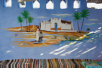 Egypte, Vallée du Nil, village Nubien aux environs d'Assouan// Egypt, Nile valley, Aswan, Nubian village around Aswan