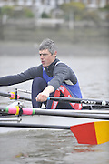 London, Great Britain, TSS. Men's H/W Quad, Bow Tom GALE, training on the River Thames Chiswick to Putney.  [Mandatory Credit. Peter Spurrier/Intersport Images]