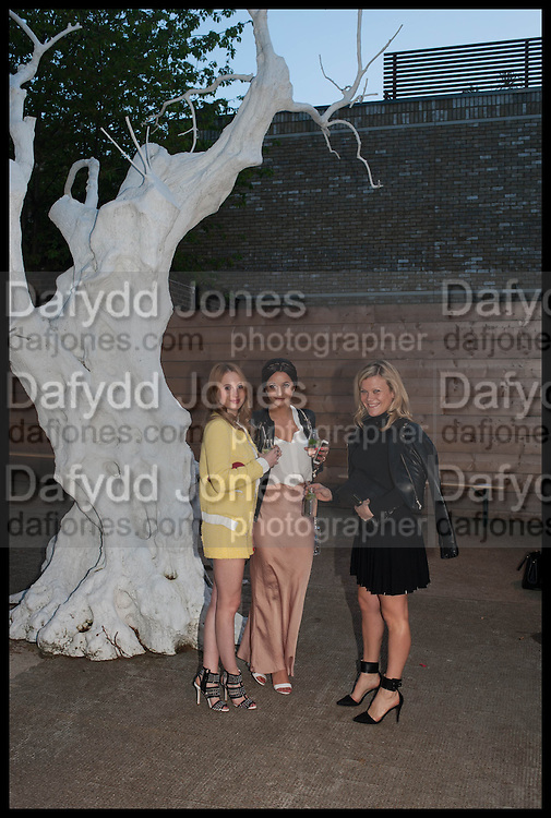 ROSIE FORTESCUE; ROXIE NAFOUSIE; OLIVIA PERRY, Frank Cohen and Nicolai Frahm host Julian Schnabel's 'Every Angel has a Dark Side,' private view and party. IN AID OF CHICKENSHED. Dairy Art Centre, 7a Wakefield Street, London. 24 APRIL 2014