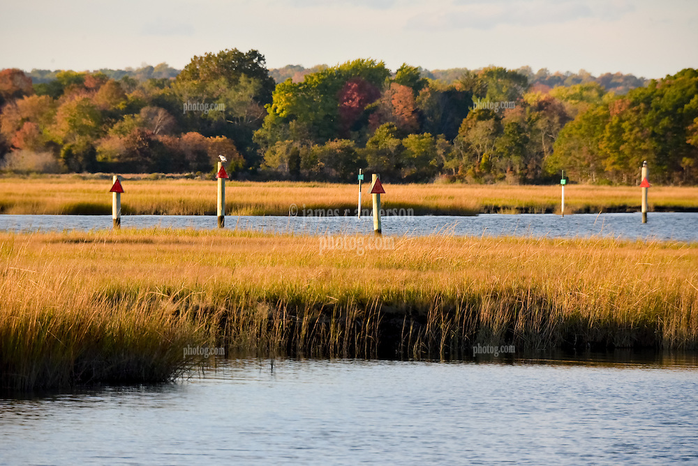 A Late Afternoon in October at Hammonassett Beach State Park, Connecticut. Autumnal Views in the Natural Preserve