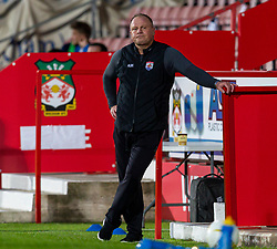 WREXHAM, WALES - Thursday, September 17, 2020: Connah's Quay Nomads' head coach Andy Morrison during the UEFA Europa League Second Qualifying Round match between Connah's Quay Nomads FC and FC Dinamo Tbilisi at the Racecourse Ground. Dinamo Tiblisi won 1-0. (Pic by David Rawcliffe/Propaganda)