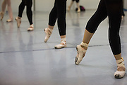 Bay Pointe Ballet artistic director Bruce Steivel works with his dancers during the first Nutcracker rehearsal at Professional Ballet School in Belmont, California, on November 11, 2013. (Stan Olszewski/SOSKIphoto)
